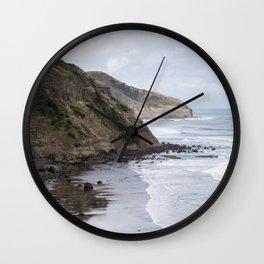 Cliffs of New Zealand Wall Clock