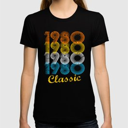 37th Birthday Gift Vintage 1980 T-Shirt for Men & Women T-Shirts and Hoodies T-shirt