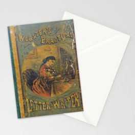 Antique Book Cover * Literacy Art for book lovers* Webster's Practical Letter Writer 1866 #booklover Stationery Cards