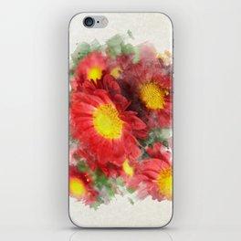 Chrysanthemum Watercolor Painting iPhone Skin