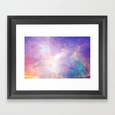 World Above Framed Art Print
