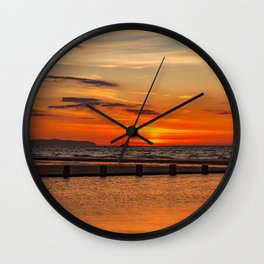 Sunset Seascape Wall Clock