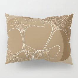 Ginkgo Leaves in Earthy Color Palette Pillow Sham