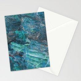 Azzurro Marble, Teal, Aqua, Blue Stationery Cards