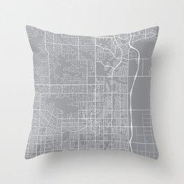 Scottsdale Map, Arizona USA - Pewter Throw Pillow