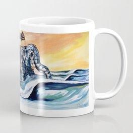 Lucy The Surfing Elephant Coffee Mug
