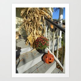 Harvest Jack O' Lantern Art Print