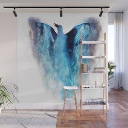 Blue bird in flight Wall Mural