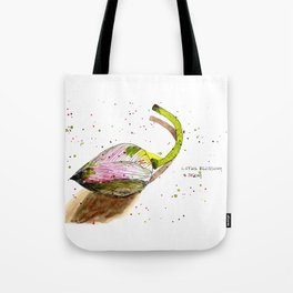 Lotus Blossom and Stem Tote Bag