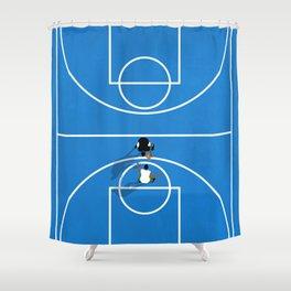 Shooting Hoops | Basketball Court Shower Curtain