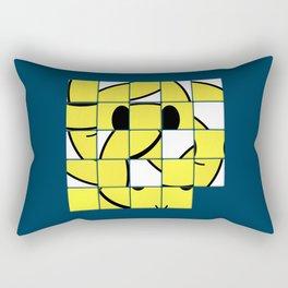 Acid Smiley Shuffle Puzzle Rectangular Pillow