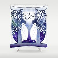 gemini Shower Curtains featuring Gemini by Stevyn Llewellyn