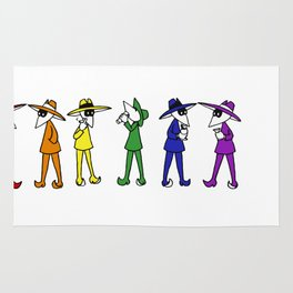 Rainbow Spy Party Rug