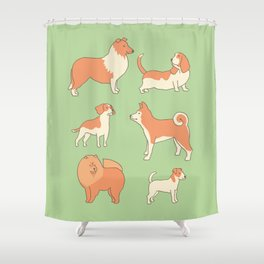 Dogs Shower Curtain