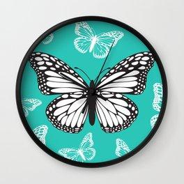 Butterfly - Aqua Wall Clock