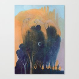 Forest of Endless Sleep Canvas Print