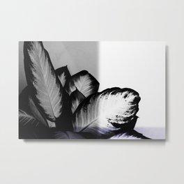 Abstract Palm Plant Metal Print