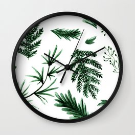 Greenery Pine Wall Clock