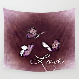 Butterfly Love Wall Tapestry