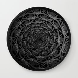 Galaxy of Filaments in Black and White Wall Clock