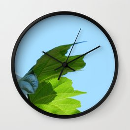 Mulberry leaves Wall Clock
