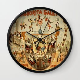 Vintage poster - Performing Monkeys Wall Clock