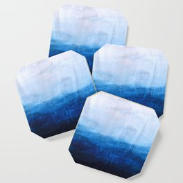 All good things are wild and free - Ocean Ombre Painting Coaster