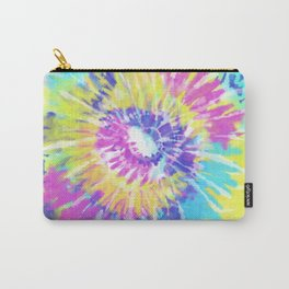 Tie Dye Spiral Pink Blue Yellow Carry-All Pouch