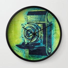 Green Retro Vintage Kodak Camera Wall Clock