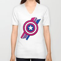 agents of shield V-neck T-shirts featuring Shield by Shop 5