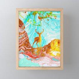 Golden Deer Framed Mini Art Print