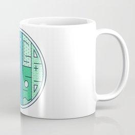 Colorful typography - Peace Please Coffee Mug