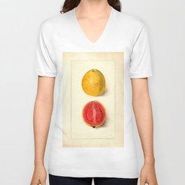 Vintage Botanical Guava Unisex V-Neck