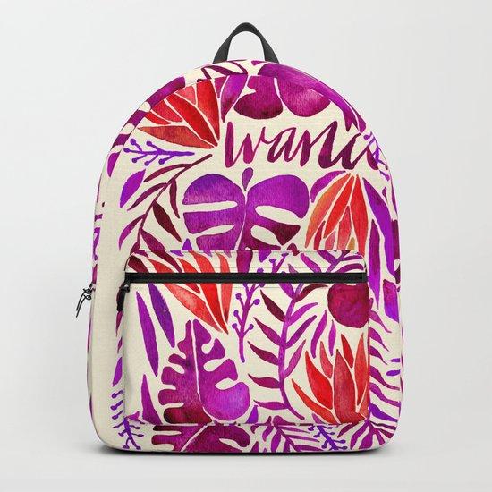 Tropical Wanderlust – Magenta Palette Backpack