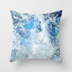 Blue Ocean Glow Throw Pillow
