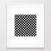 polka dots Framed Art Prints featuring Polka Dots by Kings in Plaid