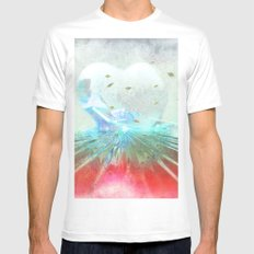When it comes from the heart ... White Mens Fitted Tee MEDIUM