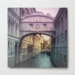 Ponte dei Sospiri | Bridge of Sighs - Venice (colored version) Metal Print