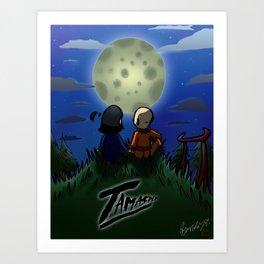 Tamashi Moonlight Art Print