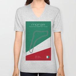 Monza Racetrack  Unisex V-Neck