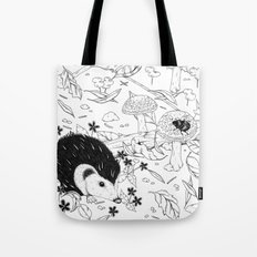 Woodland critters (uncoloured) Tote Bag