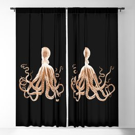 Octopus sea nautical beach coastal Blackout Curtain