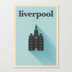 Minimal Liverpool Poster Canvas Print
