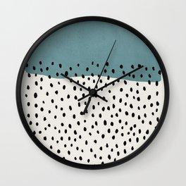 Rain, Abstract, Mid century modern kids wall art, Nursery room Wall Clock