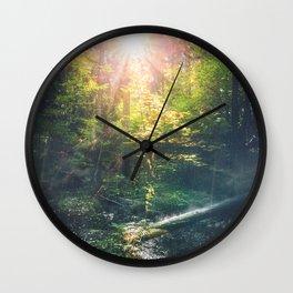 Just breathe Wall Clock
