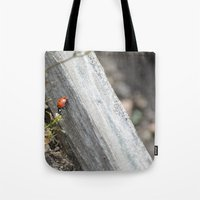 ladybug Tote Bags featuring Ladybug by Zen and Chic