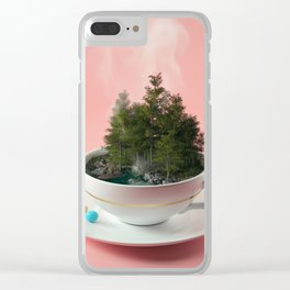 Hot cup of tree Clear iPhone Case