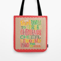 elf Tote Bags featuring Elf by Jillian Kaye