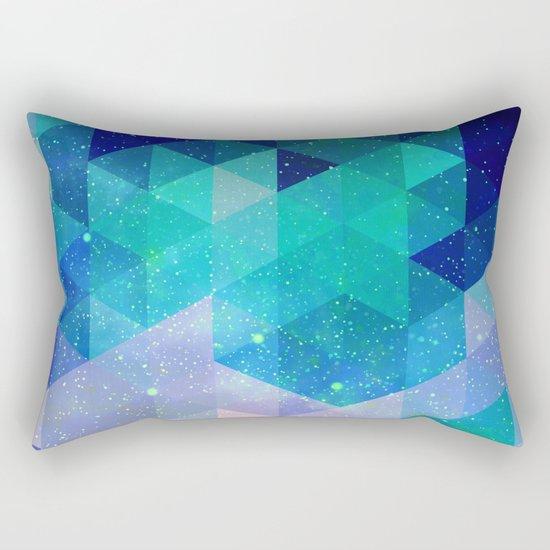 Geometric and electric Rectangular Pillow