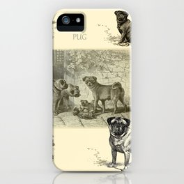 PUG DOGS Illustration iPhone Case